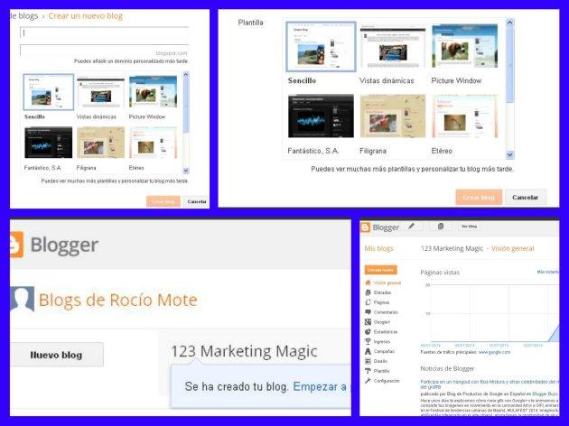 Cómo crear un blog en Blogger 1 (Rocío, julio 2014)