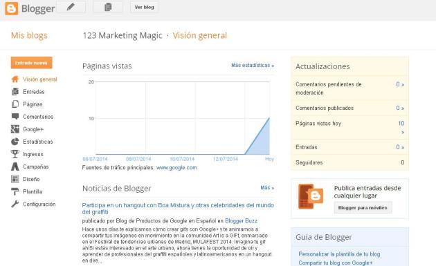 Cómo crear un blog en Blogger 2 (Rocío, julio 2014)