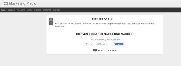 Cómo crear un blog en Blogger 3 (Rocío, julio 2014)