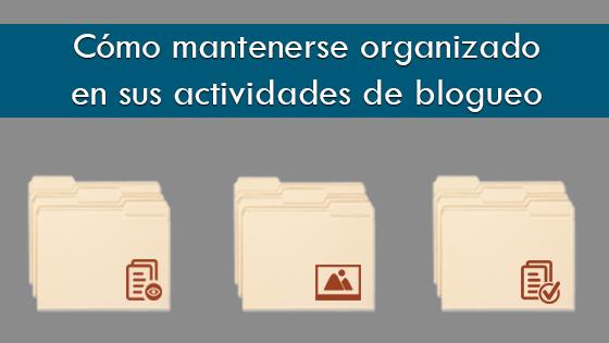 Bloguero organizado