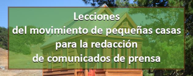 Pequeñas casas y releases_blog